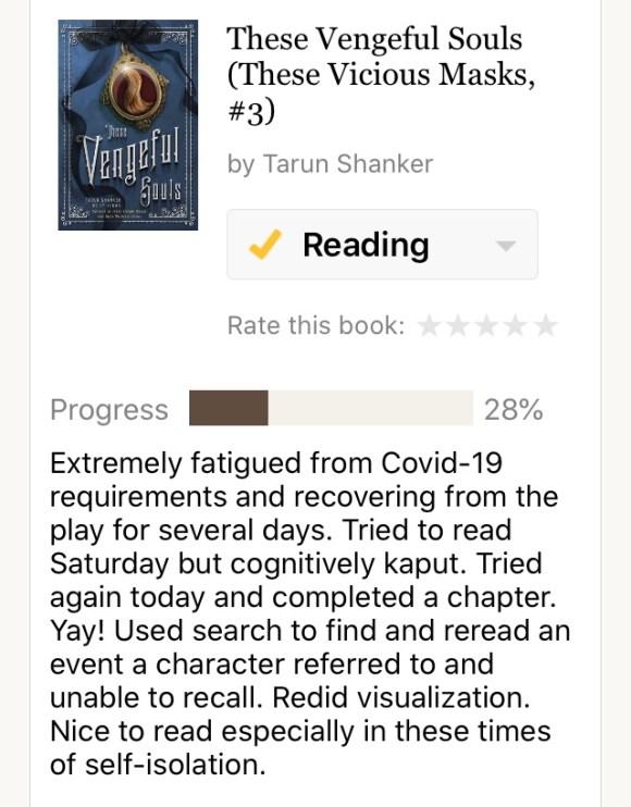 Reading activity screenshot Vengeful Souls