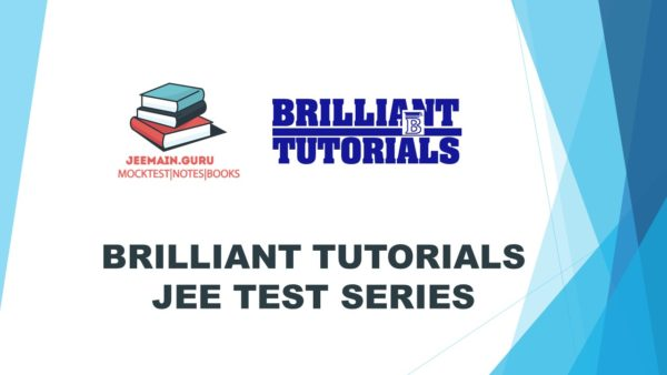 BRILLIANT TUTORIALS JEE Test Series