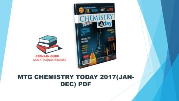 CHEMISTRY TODAY 2017