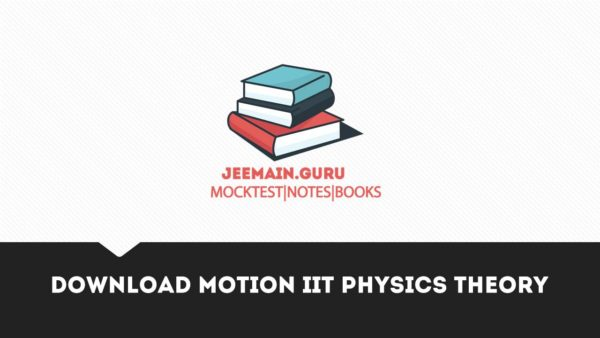 Download Motion IIT physics Theory
