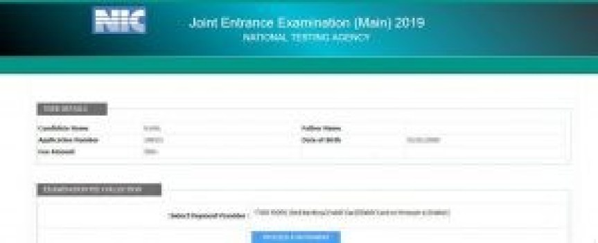 JEE Main Payment of Application Fee