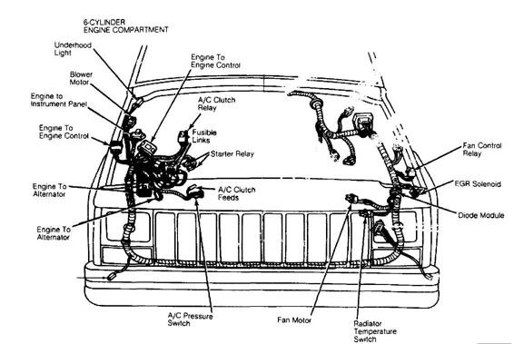 19972006 jeep cherokee wrangler rear window defrost switch