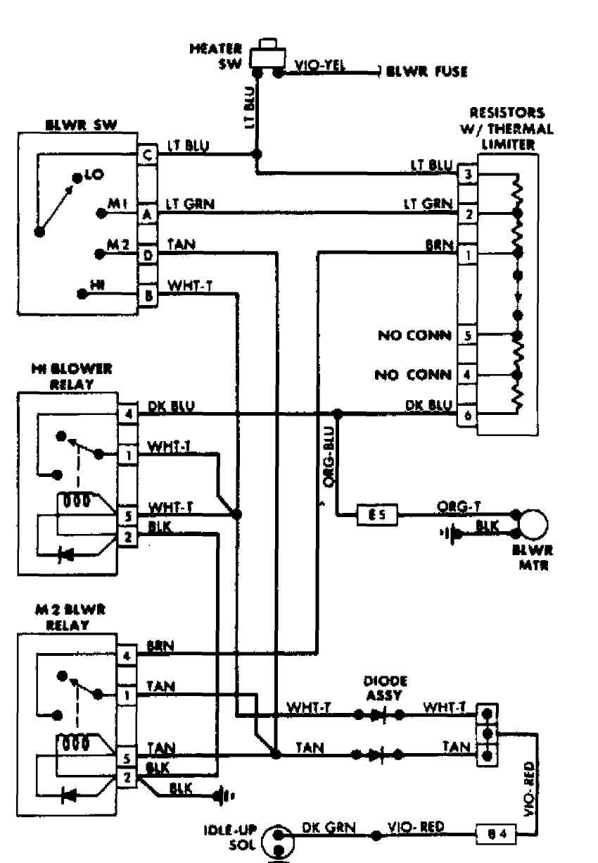 medium resolution of 4 heater wiring diagram comanche diesel