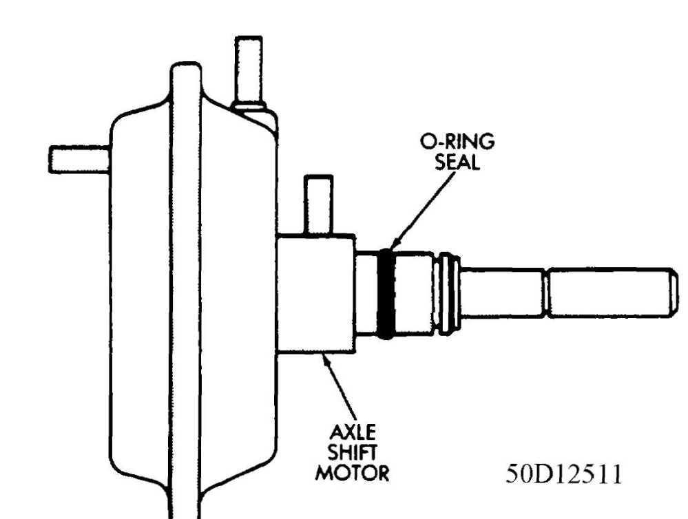 medium resolution of 4 axle vacuum shift motor shaft o ring seal