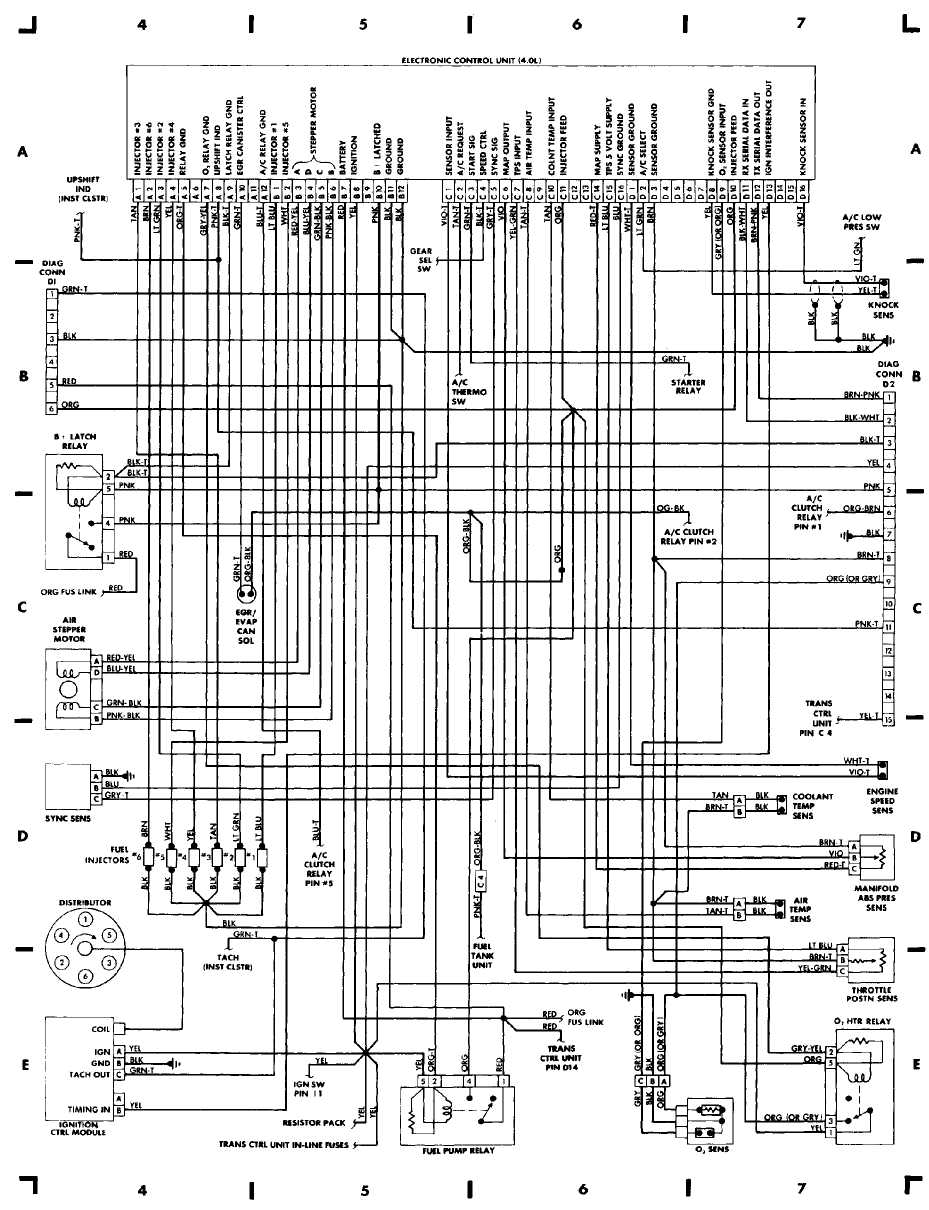 medium resolution of wiring diagrams 1984 1991 jeep cherokee xj jeep rv trailer wiring schematic jeep electrical wiring schematic
