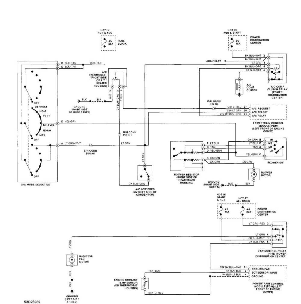 medium resolution of 2002 jeep grand cherokee wiring schematic for heat and air