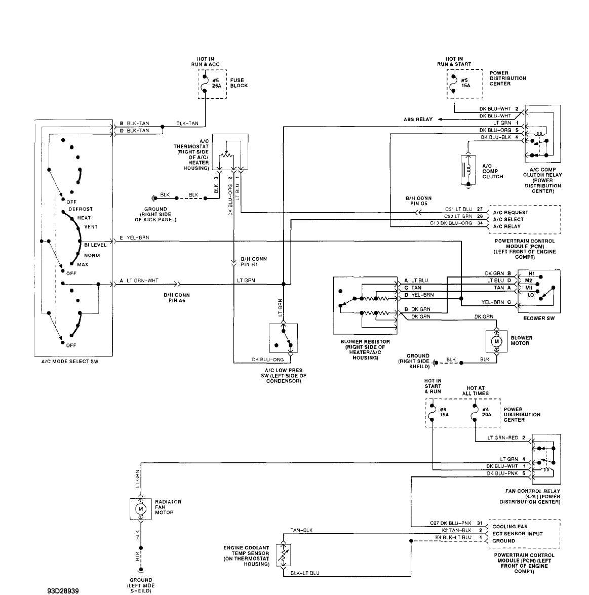 hight resolution of jeep ac wiring diagram wiring diagram blog a c compressor wiring diagram 2000 wrangler