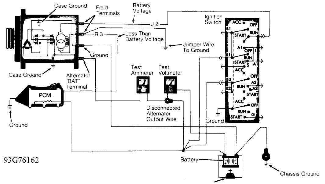 1998 ford taurus alternator wiring diagram