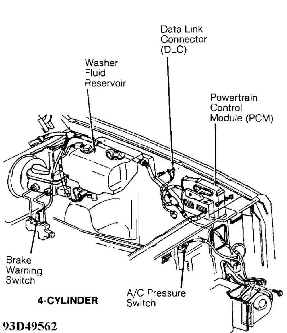 medium resolution of brake warning switch 4 cylinder