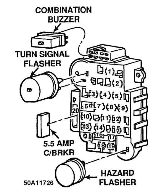 small resolution of maintenance information 1993 jeep cherokee xj jeep10 fuse panel identification 1992 models