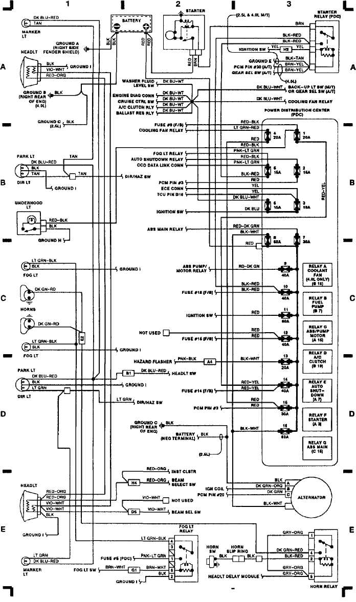 [DIAGRAM] Jeep Yj Wiring Diagram Schematic FULL Version HD