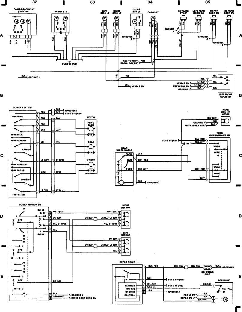 WIRING DIAGRAMS :: 1993 :: Jeep Cherokee (XJ) :: Jeep