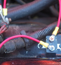 finally you ll see in the picture on the right the connection to the existing fuse block under the dash a simple matter of popping out the sme fuse  [ 1200 x 803 Pixel ]