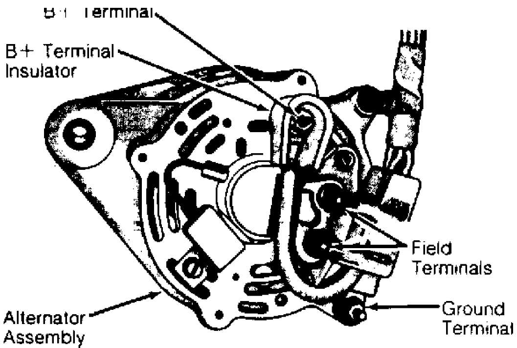 jeep xj alternator wiring diagram