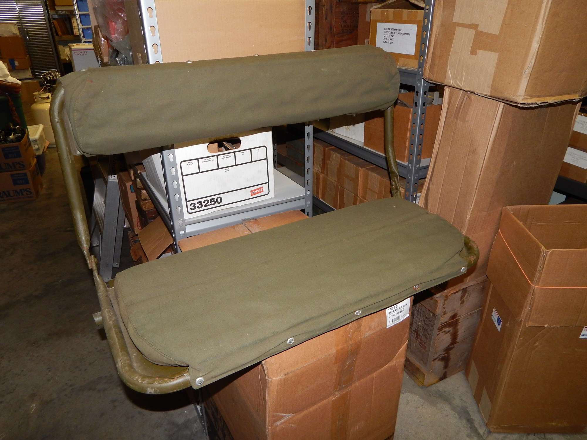 hight resolution of m38 m38a1 rear seat nos classic military vehicles willys jeep