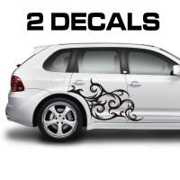 Tribal Scroll Design Car Door Decal Sticker  Jeepazoid