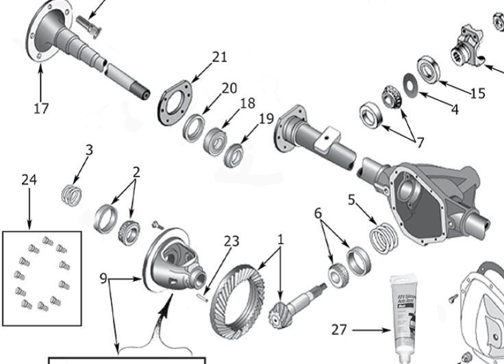 Rear Axle Shaft Bearing Kit (Dana 44 TJ) (D44TJBK