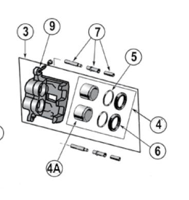 Caliper Repair Kit, Front Akebono (Grand Cherokee WJ