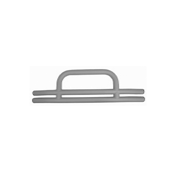 TUBULAR FRONT BUMPER WITH HOOP, TITANIUM, 55-06 CJ