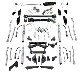 Extreme-Duty 4-Link Long Arm Coilover Kit Airbumps Front