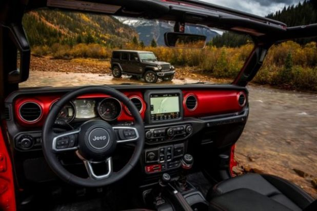 2020 Jeep Wrangler Hybrid interior