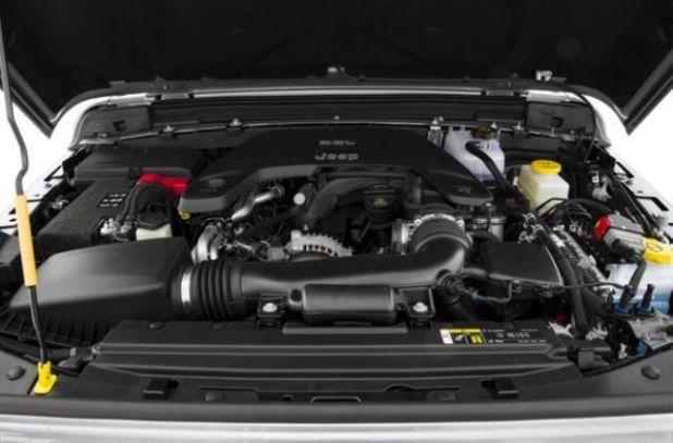 2020 Jeep Wrangler Sahara engine