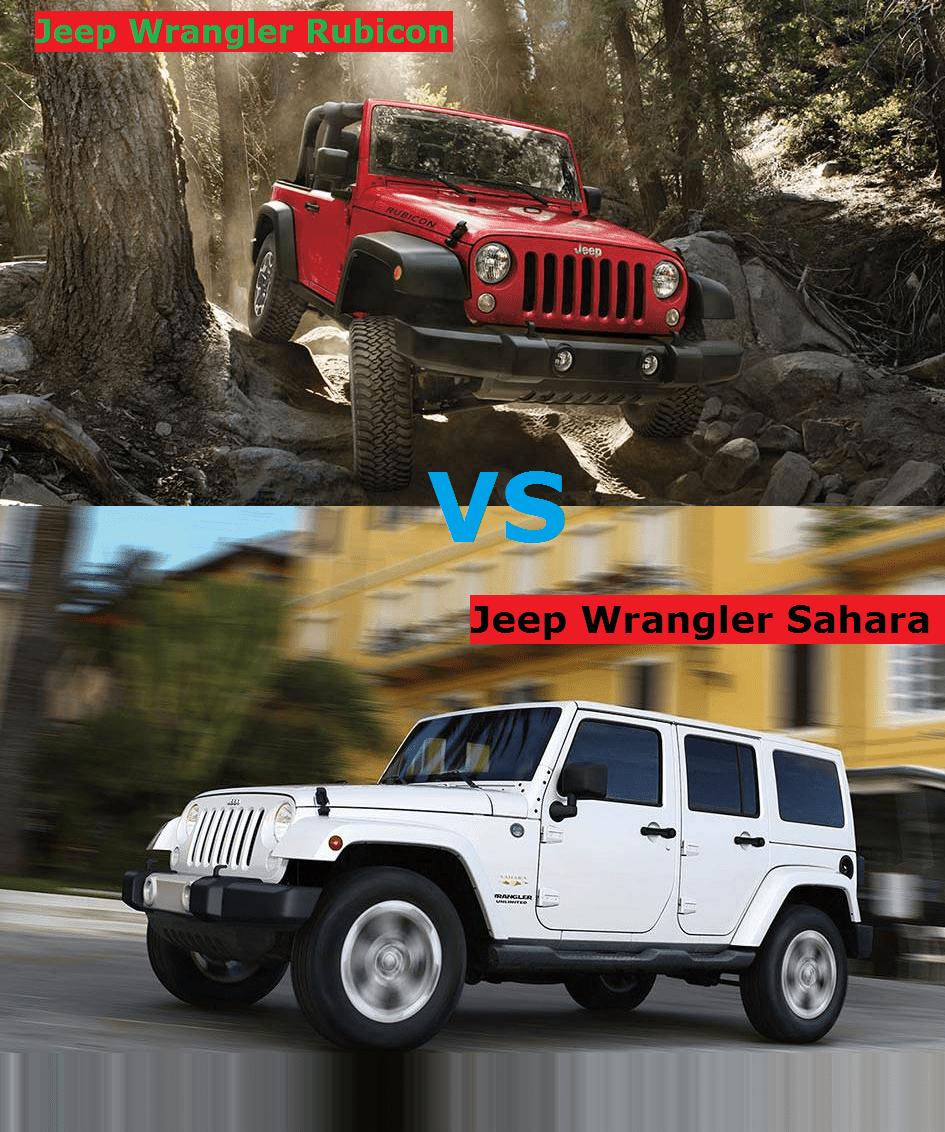 Jeep Wrangler  Rubicon Vs Sahara  Jeep Wrangler Rubicon