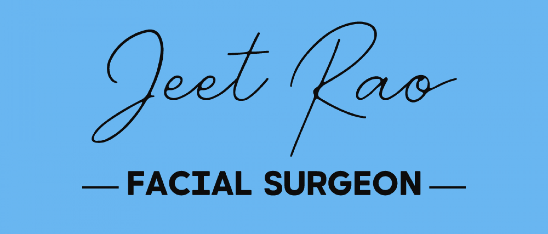 Mr Jeet Rao | Facial Surgeon