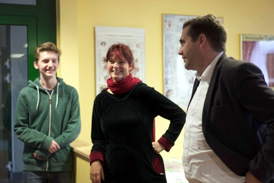 Frank Sitta mit Schulleiterin Antje Pochte in der Jeetzeschule in Salzwedel A