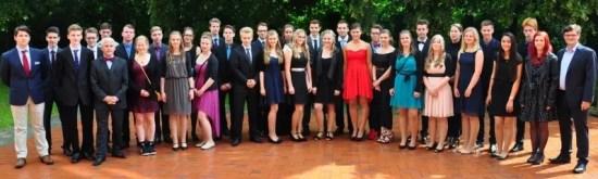 Die Absolventen der zehnten Klassen an der Jeetzeschule. Foto: Alexander Walter VOLKSSTIMME