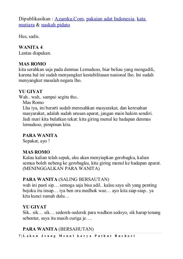 Naskah Drama Klasik : naskah, drama, klasik, Contoh, Drama, Tragedi, Jefasr