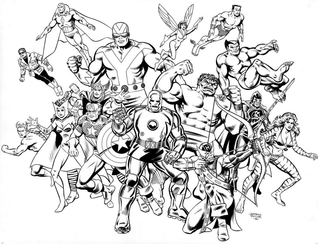 Avengers: Coast to Coast! TSR, Inc. Brush and Ink 1984