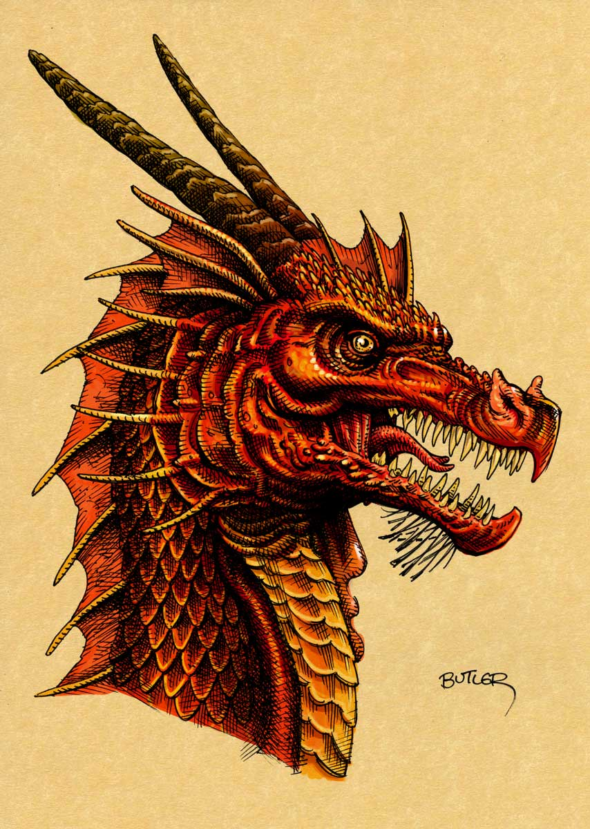 Dragon Drawing Color : dragon, drawing, color, Dragon, Digital, Color