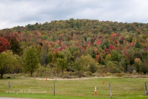 fall color beginning on route 58 near Hazens notch in Vermont