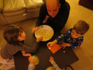 Eating popcorn before bed