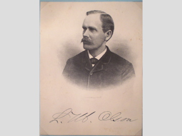 My great, great-grandpa Laurentius Magnus Olson. Born in Arvika, Sweden. Utah Territory Senator from Carbon County, UT.