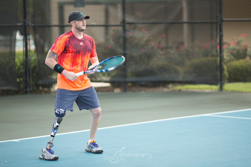 Jeff Bourns Amputee Tennis Player