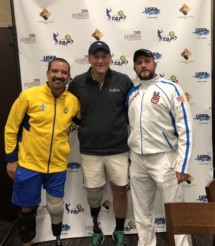 Brazil and USA athletes. Jeff Bourns, Roberto Tuehlo and Matthew Bulow