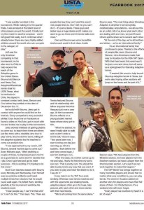 An excerpt about the USA TAP OPEN published Inside Tennis Magazine February 2017.