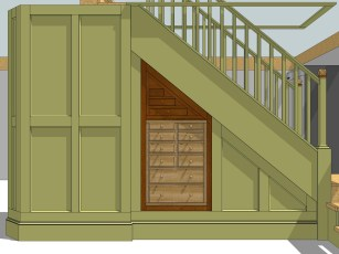 Tool Cabinet and Wall Surround.