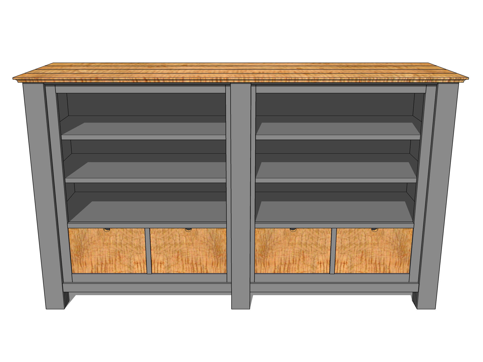 A Large Media Cabinet in SketchUp  Jeff Branch Woodworking