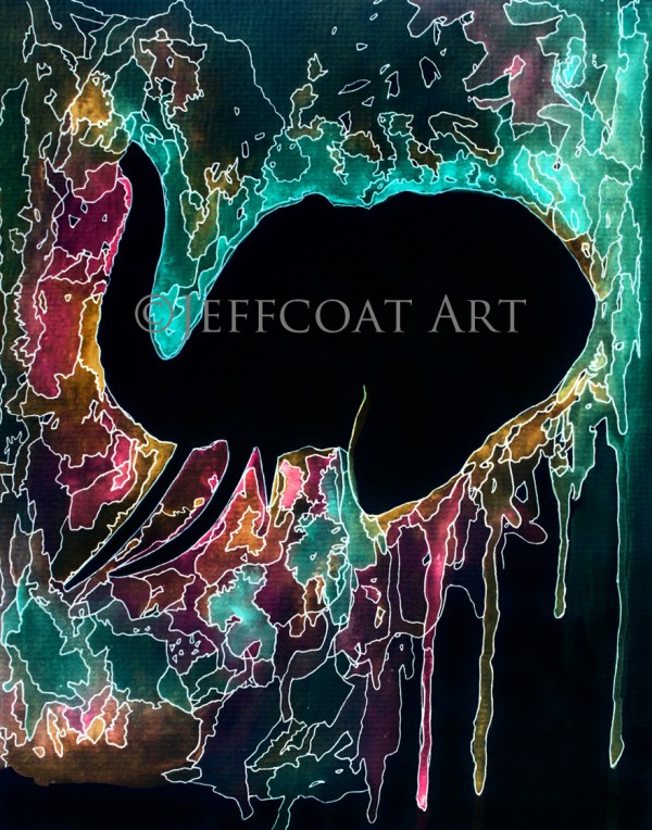 Elephant Psychedelic Limited Edition Print by Jeffcoat Art