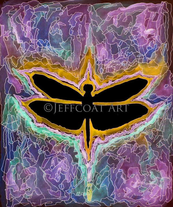 Dragonfly Psychedelic Limited Edition print by Jeffcoat Art