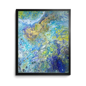 Content acrylic pour print by Jeffcoat Art