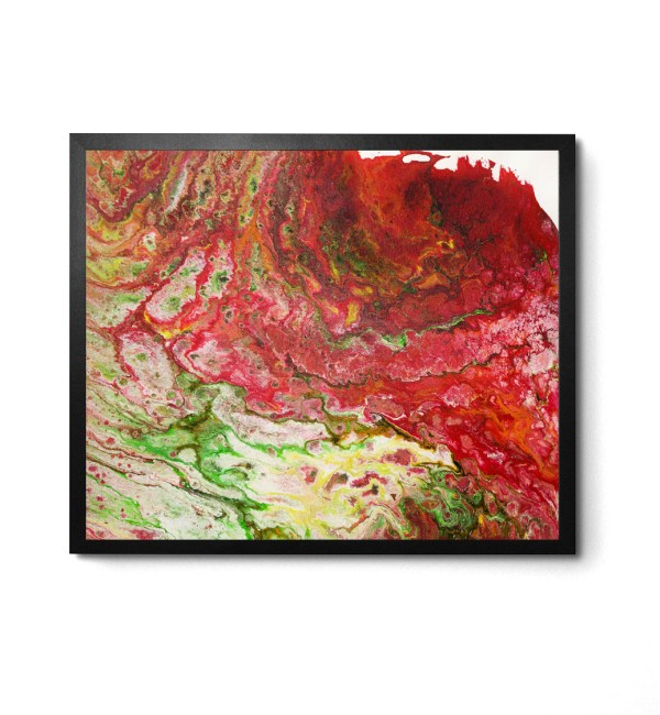 Magical Acrylic Pour print by Jeffcoat Art