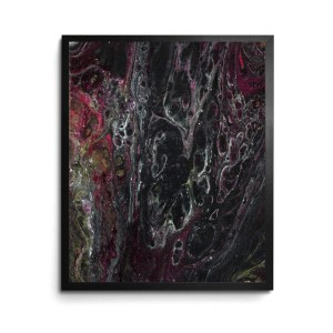 Slipping Acrylic Pour print by Jeffcoat Art