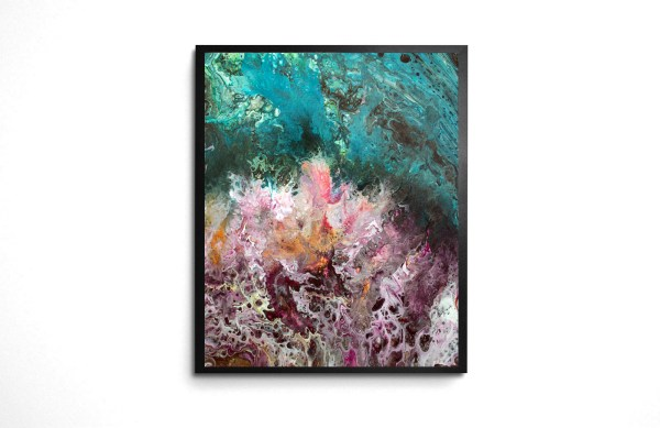 Anemone Tide acrylic pour print by Jeffcoat Art