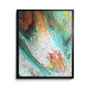 Live, Laugh, Steal Wine Acrylic Pour print by Jeffcoat Art