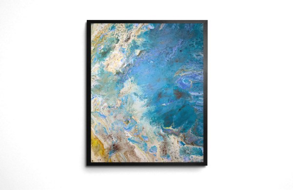 Sand in My Toes acrylic pour print by Jeffcoat Art
