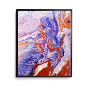 Mojave Cloud acrylic pour print by Jeffcoat Art